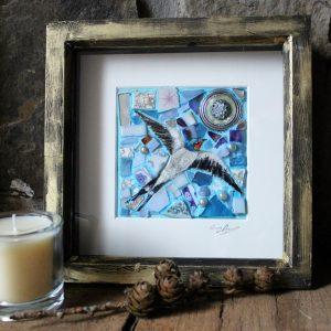 Single swallow mosaic Sold